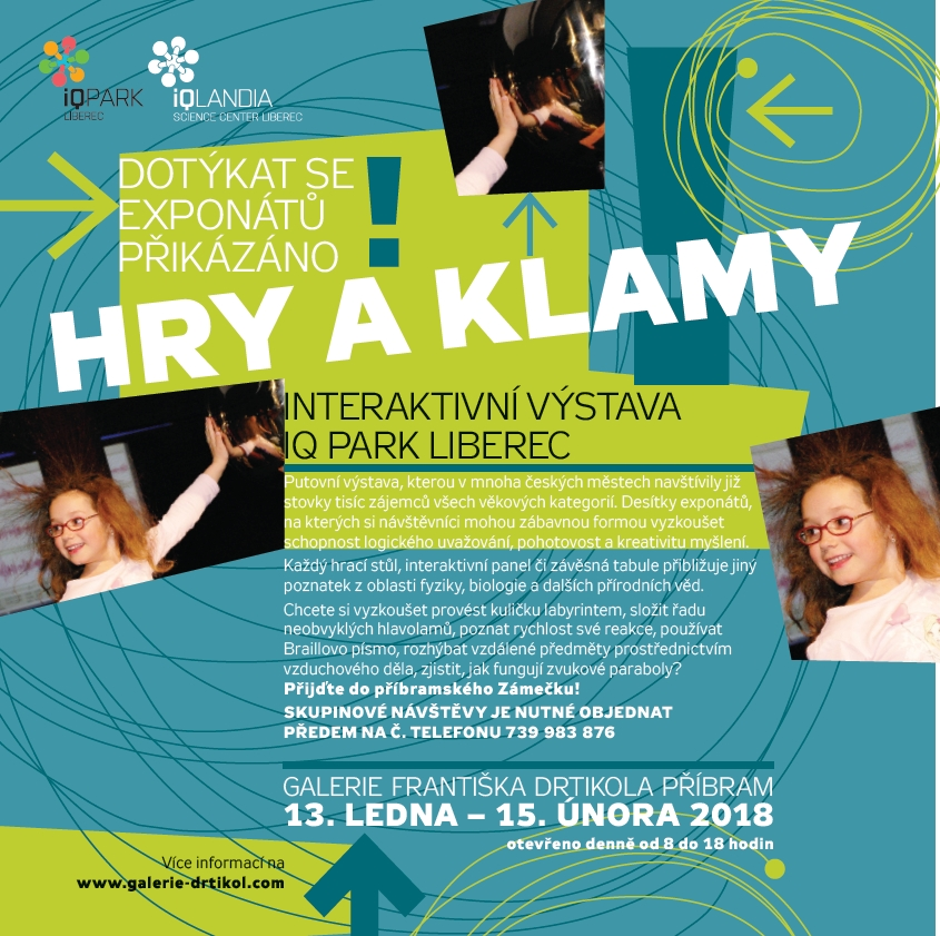 Hry a klamy - interaktivní výstava IQ Park Liberec