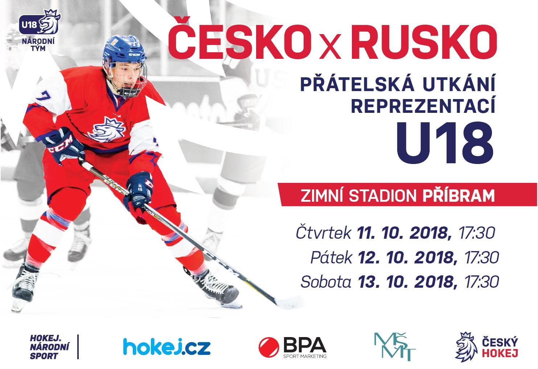 Lední hokej: Česko - Rusko - U18