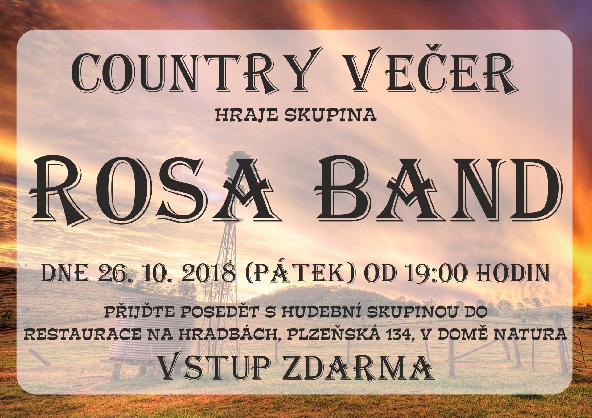 Country večer se skupinou Rosa Band