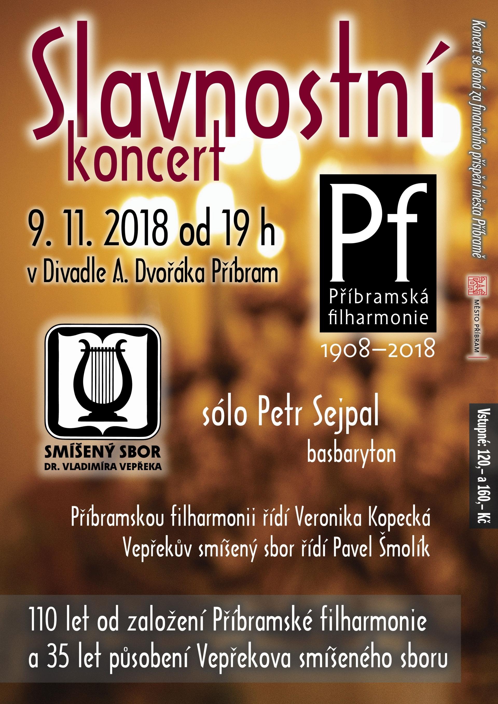Slavnostní koncert Příbramské filharmonie a Vepřekova smíšeného sboru
