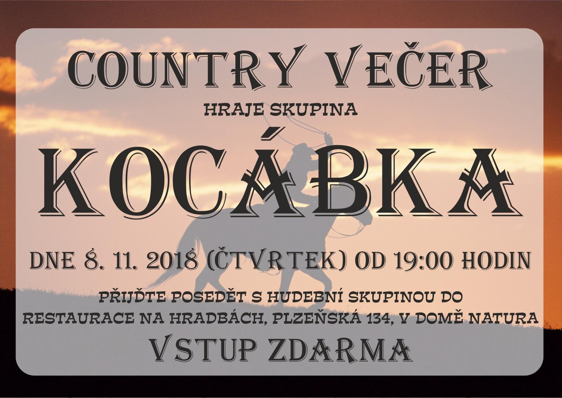 Country večer se skupinou Kocábka