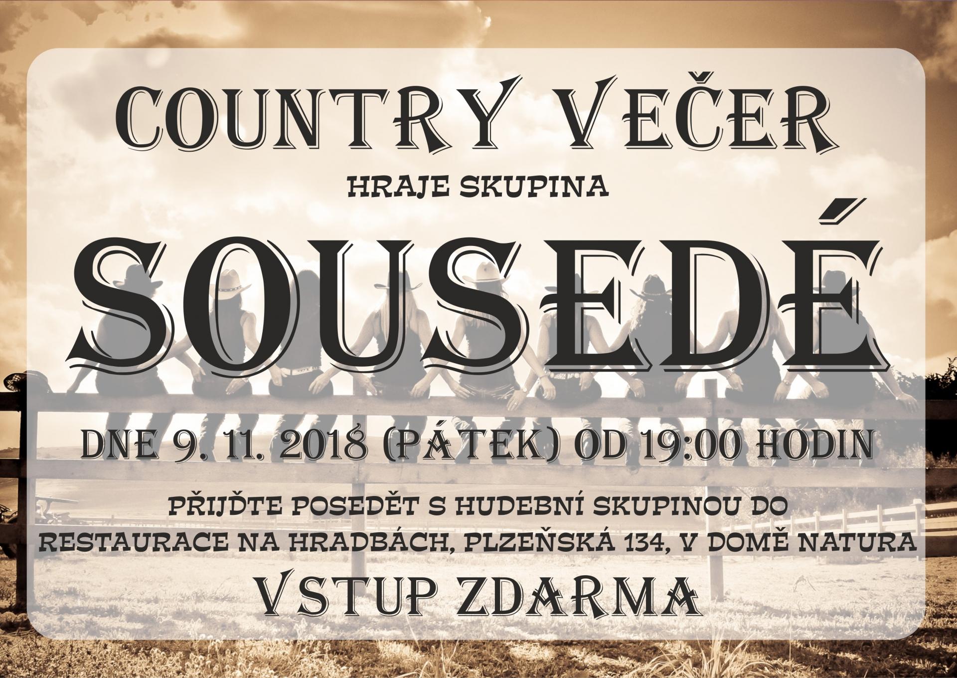 Country večer se skupinou Sousedé
