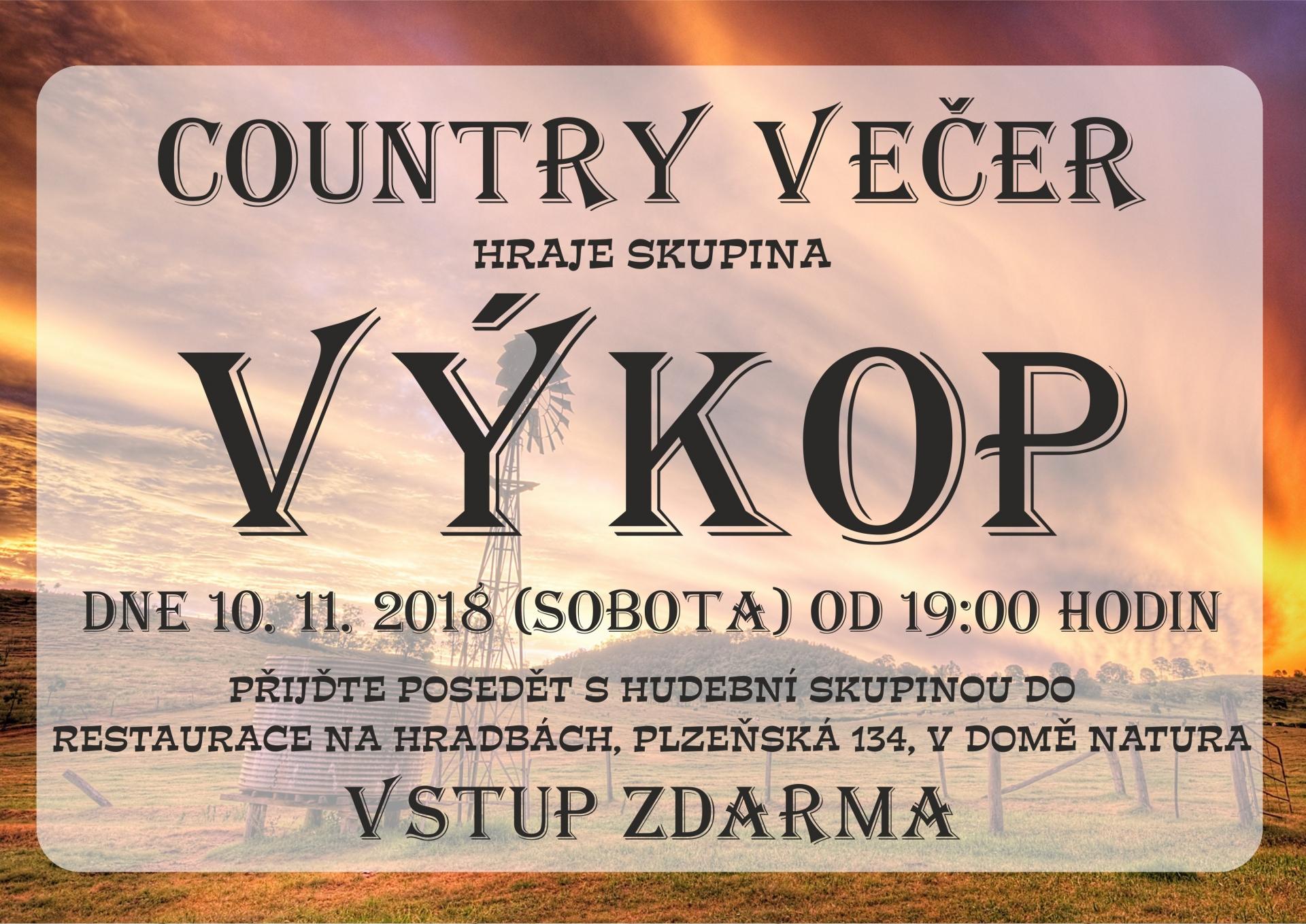 Country večer se skupinou Výkop