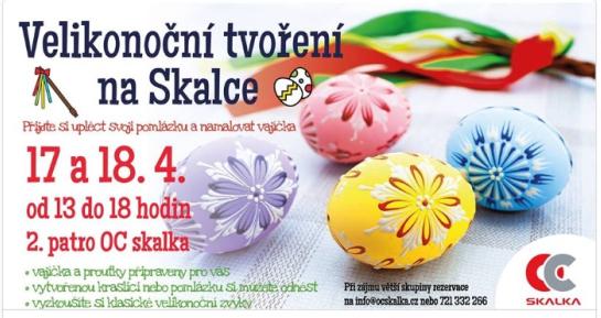 Velikonoční tvoření v OC Skalka