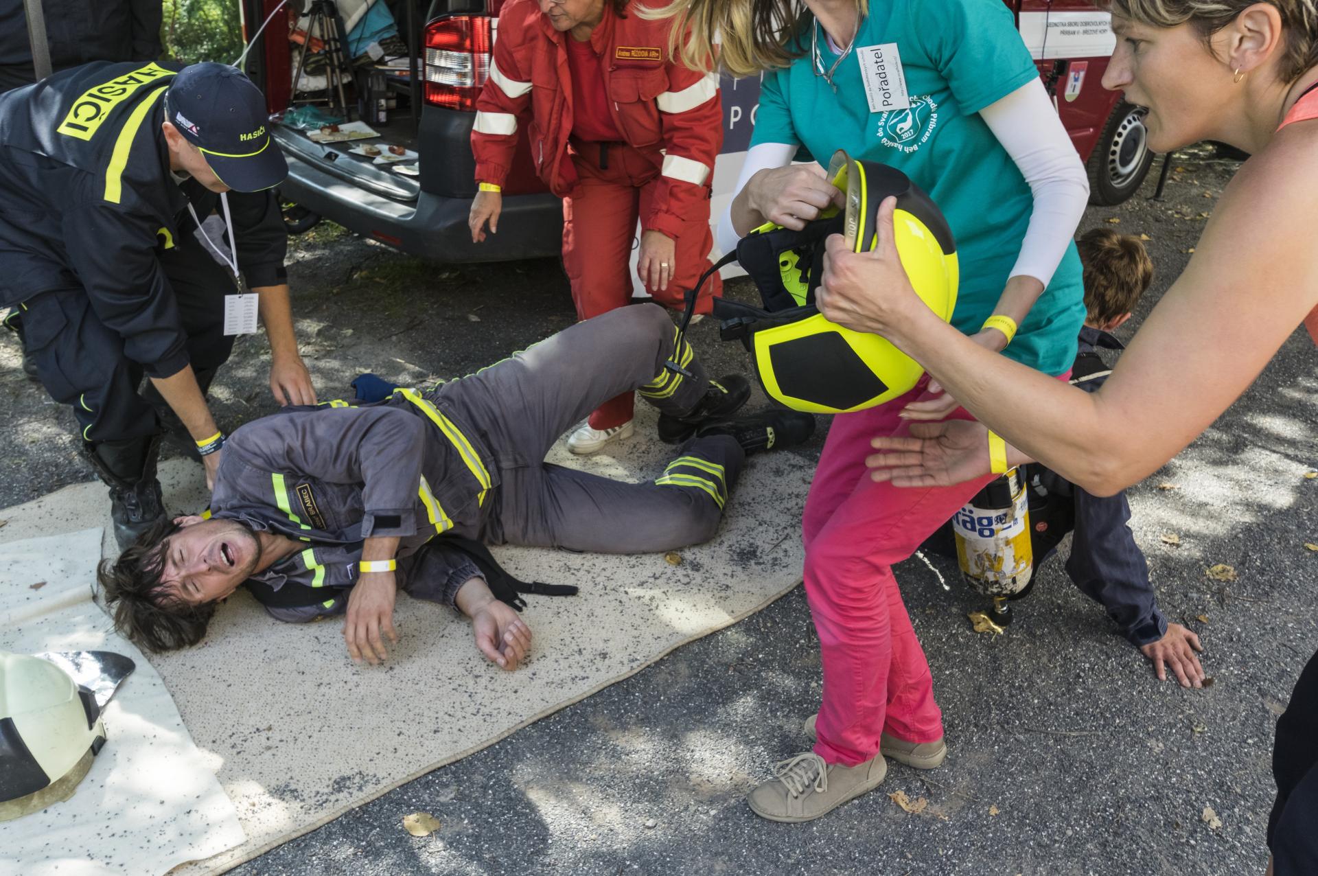 Běh hasičů do Svatohorských schodů