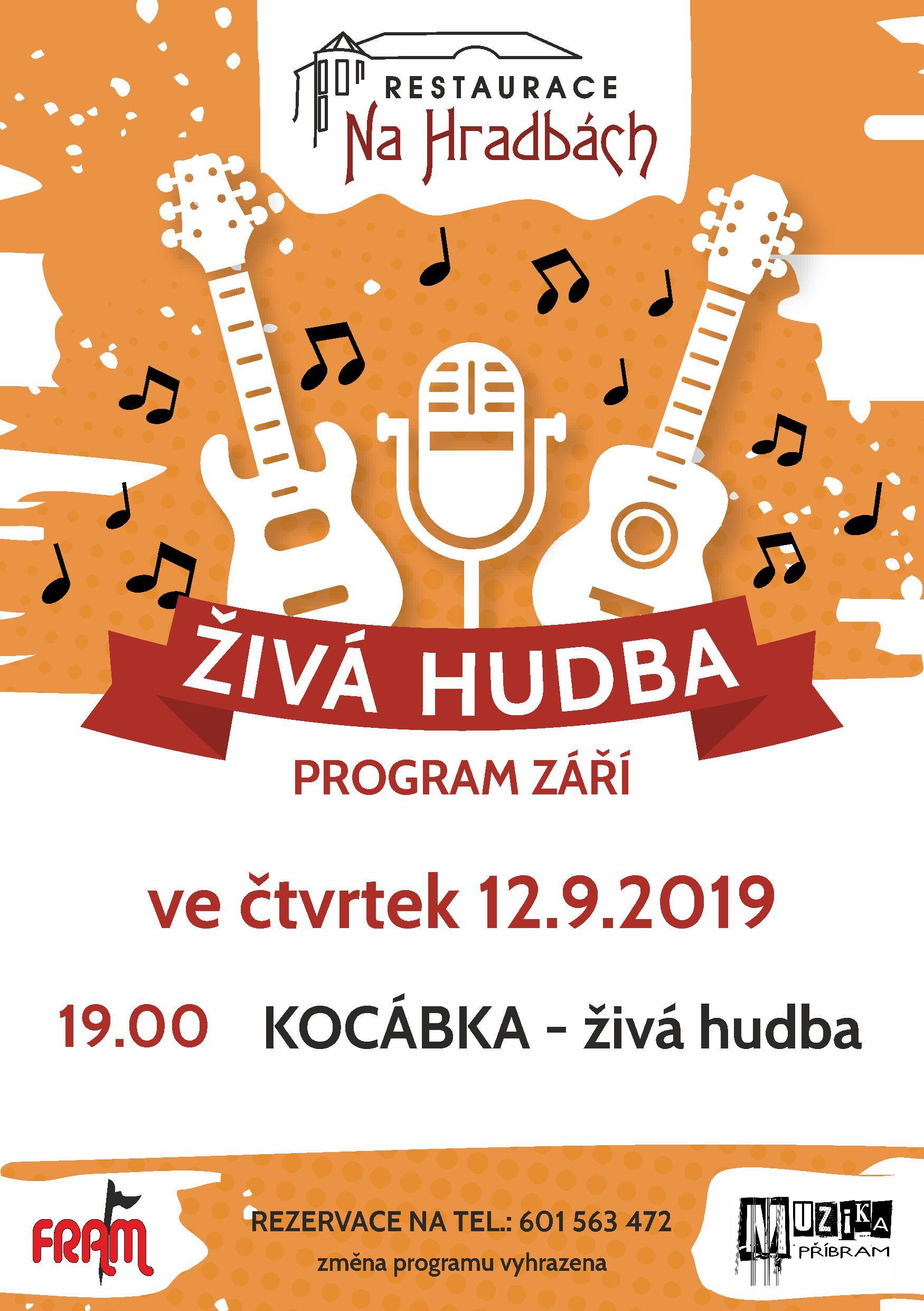 Živá hudba - skupina Kocábka