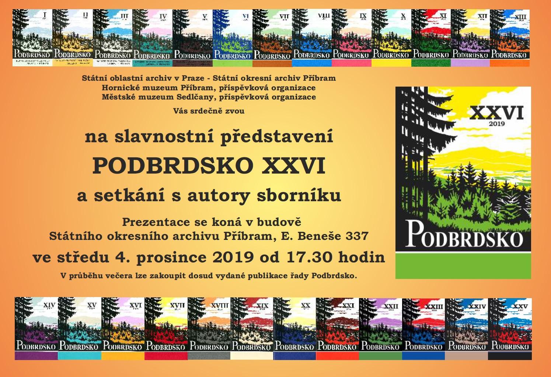 Slavnostní představení sborníku Podbrdsko XXVI + zahájení výstavy
