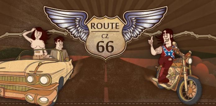 Přejezd české Route 66 (Příbram-Milín)