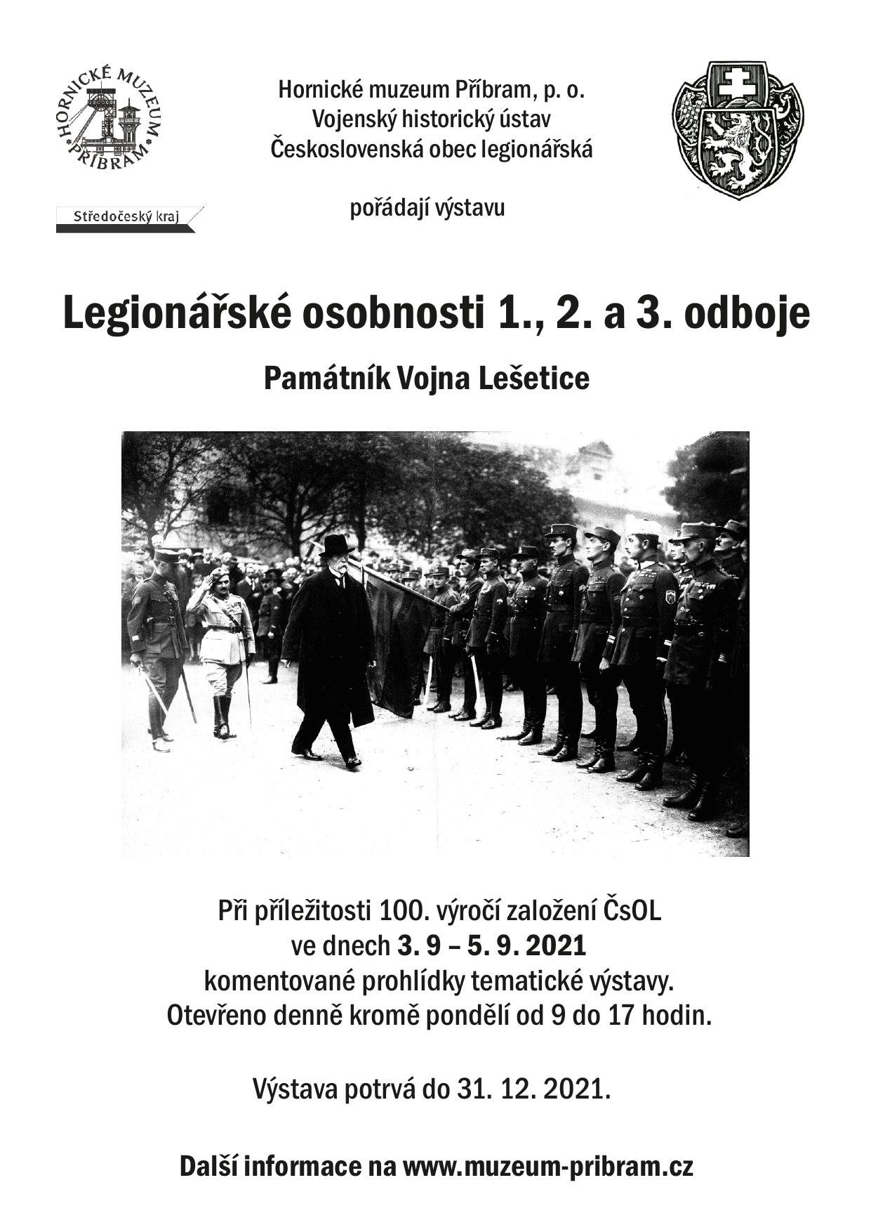 Výstava: Legionářské osobnosti 1., 2. a 3. odboje
