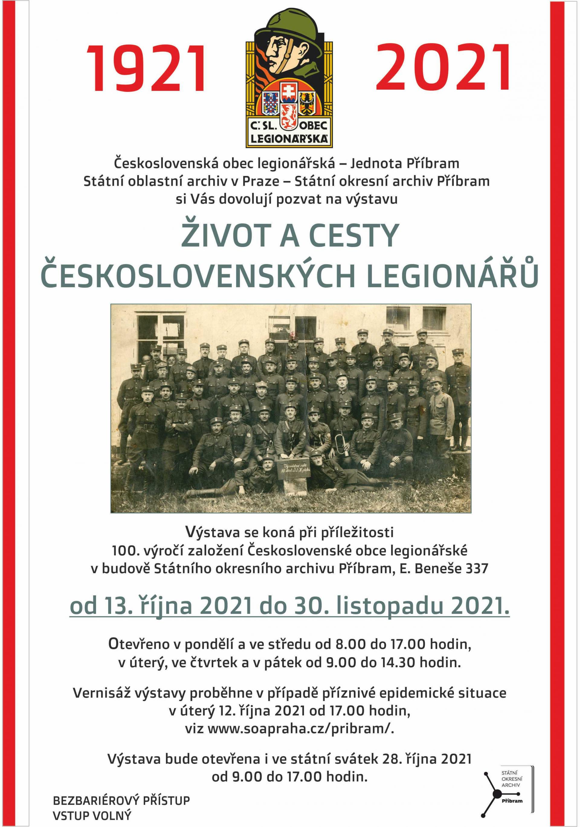 Výstava: Život a cesty československých legionářů