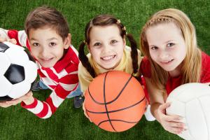 Děti a míče