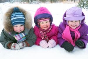 Děti zima