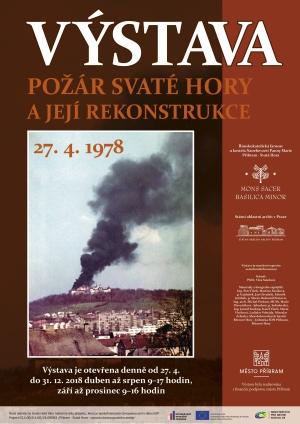 Plakát výstava požár 40  výročí