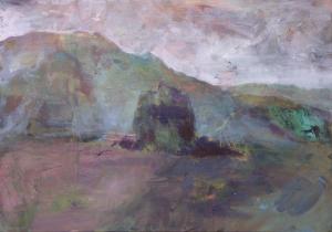 Řepa - Karel - Desert stone - akryl na plátně - 2019